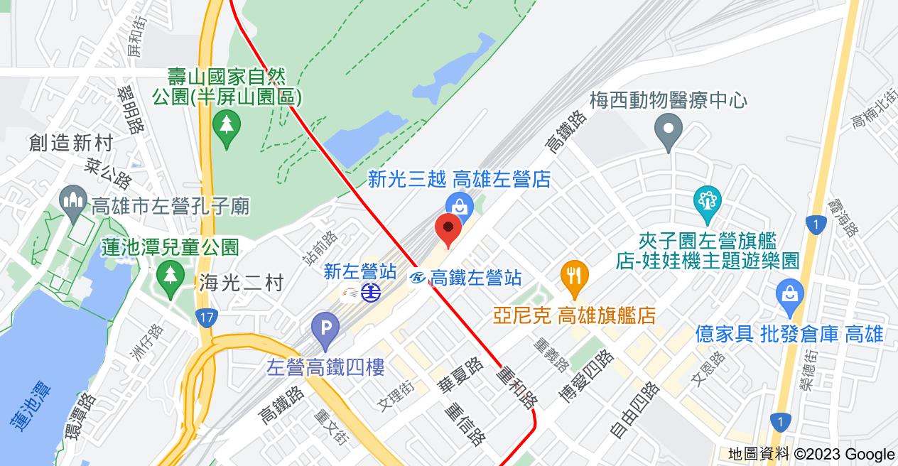 813高雄市左營區高鐵路123號6地圖