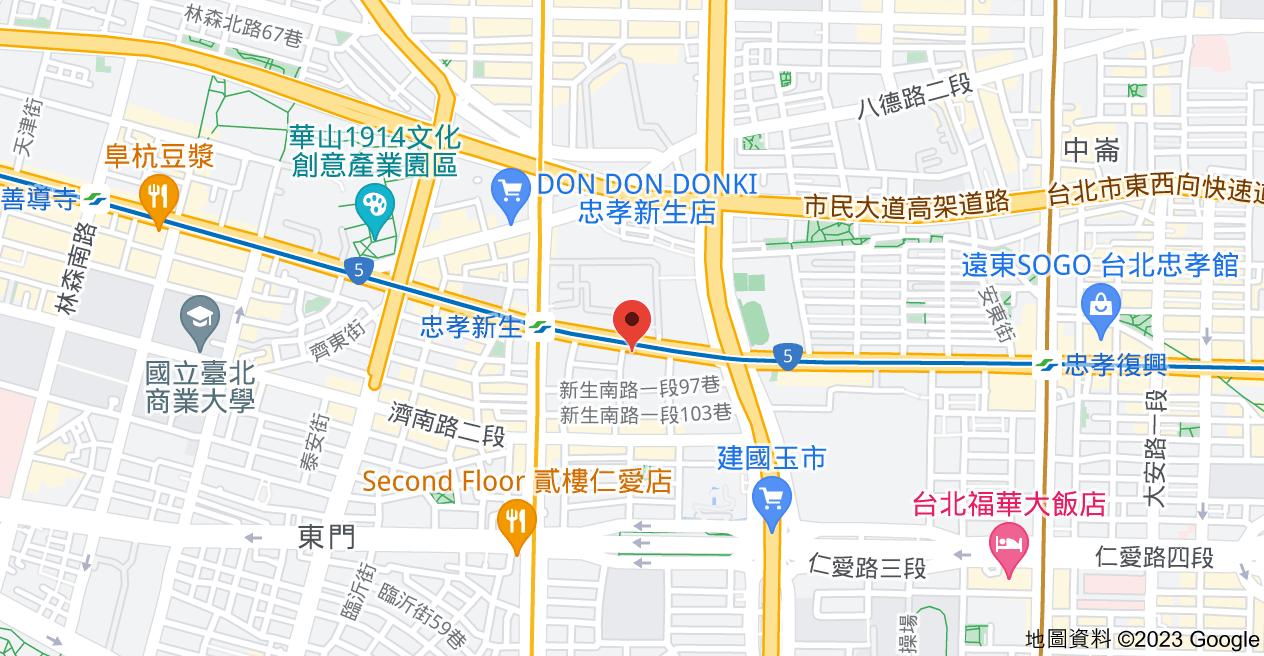 106台北市大安區忠孝東路三段46-3號1地圖